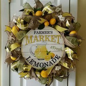 Wreath summertime lemonade theme